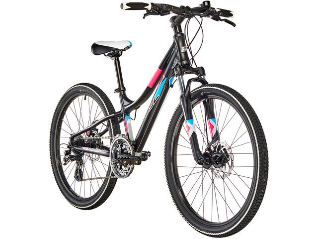 s'cool troX pro 24 24-S Børnecykel sort (2019) | City-cykler